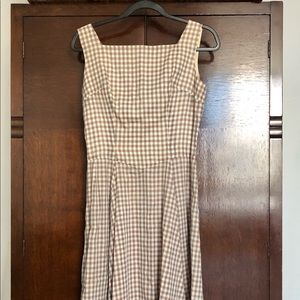 Vintage 1950's gingham plaid dress